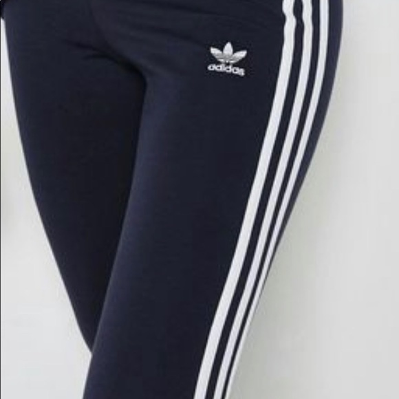 eefa313a17922 adidas Pants | 3 Stripe Leggings Dark Blue L Brand New | Poshmark